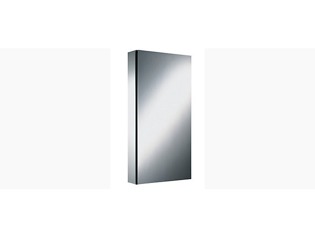 Series M 591mm mirrored cabinet plain left handed