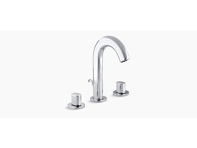 Oblo 2-handle 3-hole basin mixer includes pop-up waste