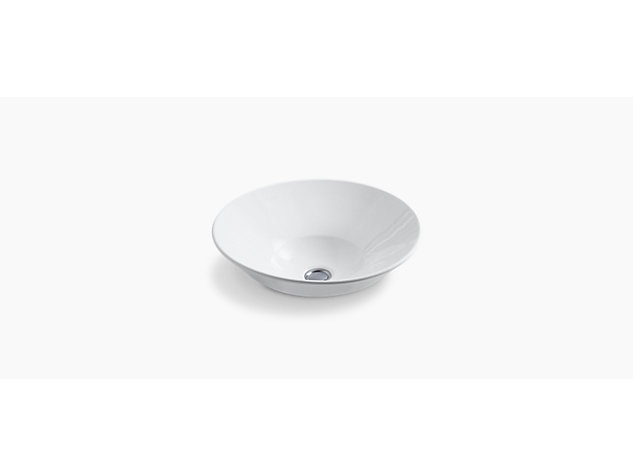 Conical Bell vessel basin with glazed underside