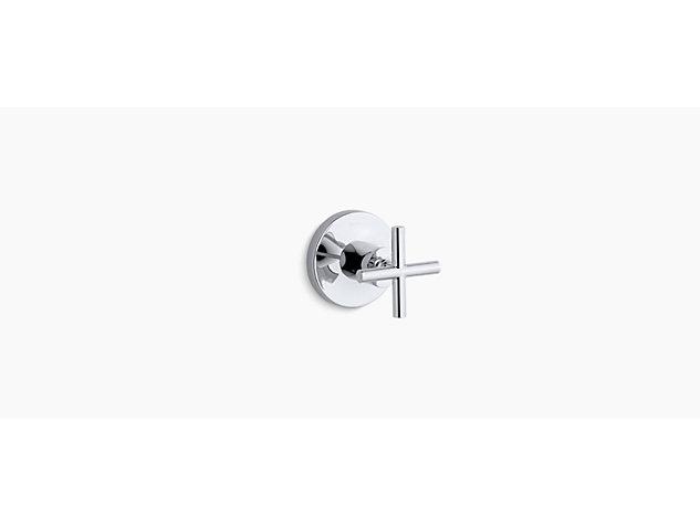 Purist 3-way transfer valve cross handle