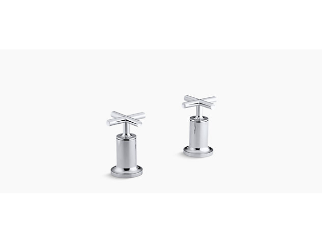 Purist Deck-mount bath valve kit cross handle