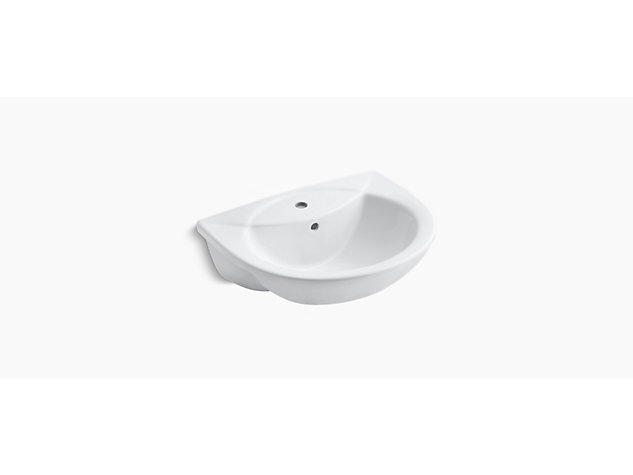 Odeon Semi-recessed basin, 560mm