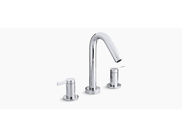 Stillness 2-handle 3-hole basin mixer no waste