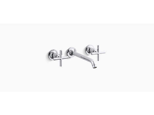 Purist 2-handle 3-hole wall-mount basin mixer cross handle