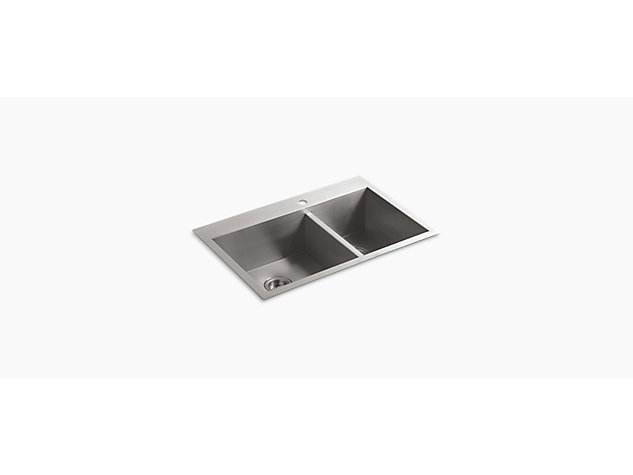 Vault Inset Under-mount 838mm 1 Bowl 1 tap hole
