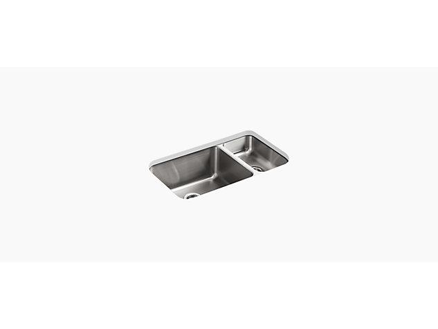 Under-mount sink 800mm no tap hole