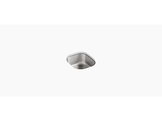 Icerock Under-mount rounded 394mm no tap hole