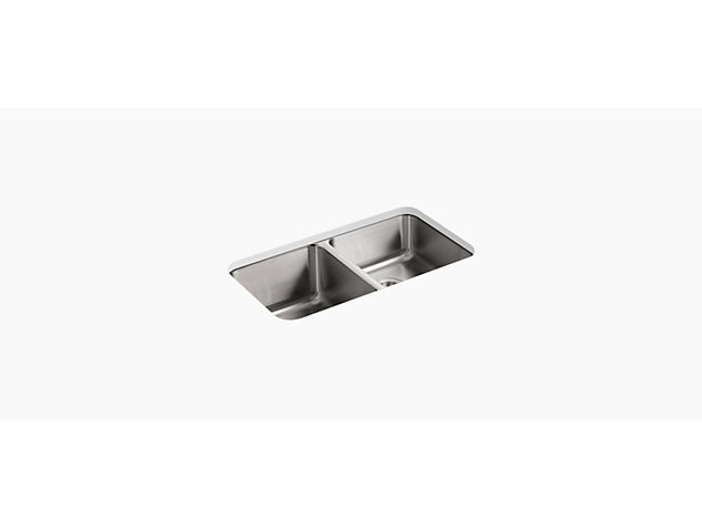 Icerock Under-mount double Bowl 800mm no tap hole