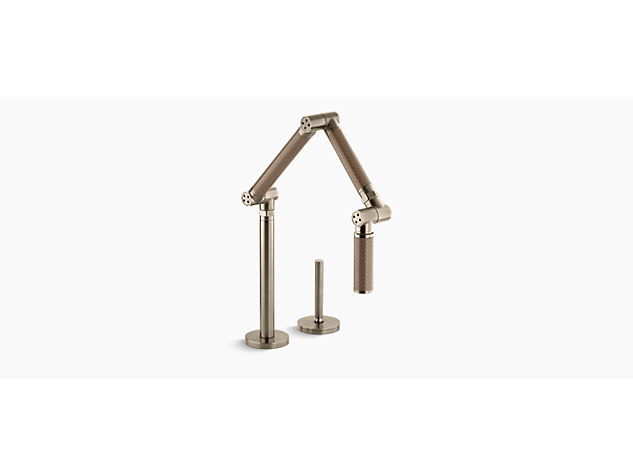 Karbon Single lever tap bronze tube with Vibrant Brushed Bronze body