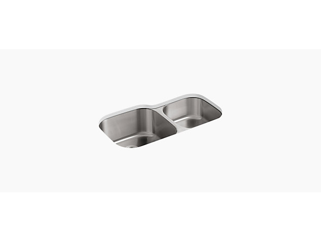 Icerock Under-mount double Bowl 892mm no tap hole