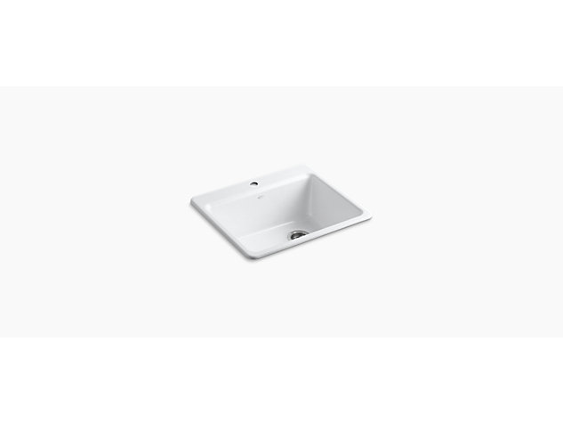 Riverby Inset 635mm with accessories 1 tap hole
