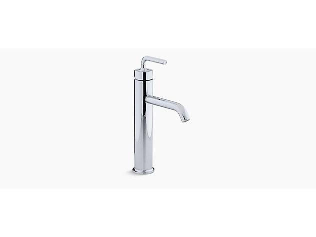 Purist Tall single-lever monobloc basin mixer straight handle