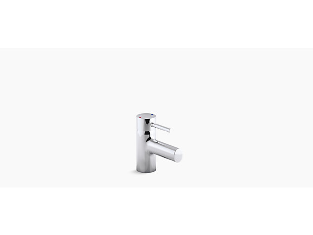 Cuff Mini single-lever monobloc basin mixer with clicker waste