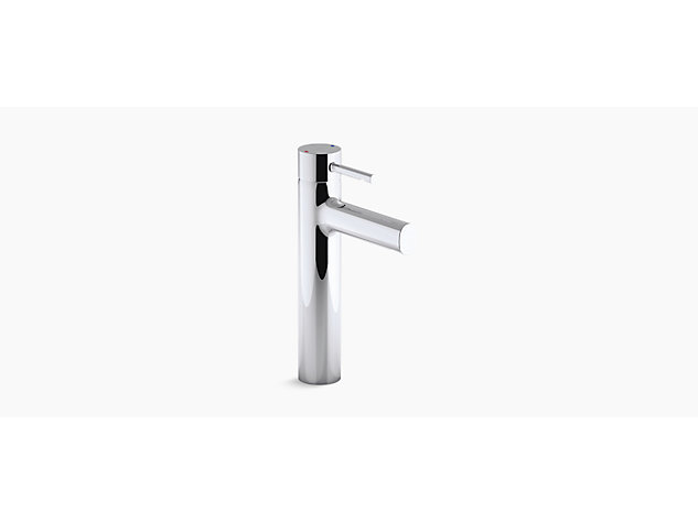 Cuff Tall single-lever monobloc basin mixer includes pop-up waste