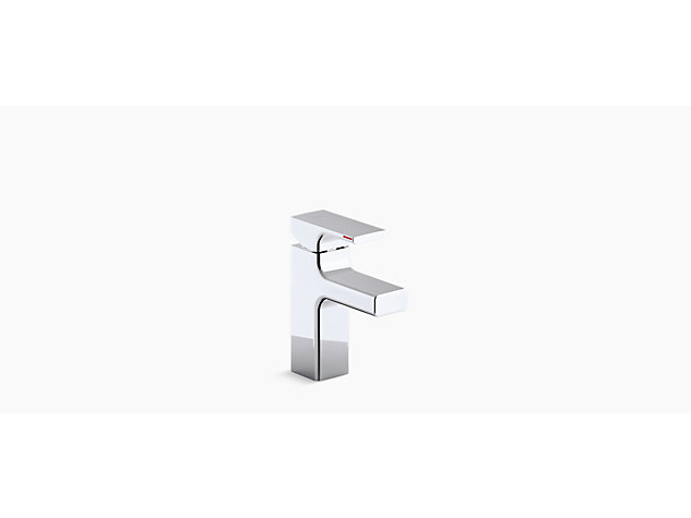 Strayt Single-lever monobloc basin mixer includes pop-up waste