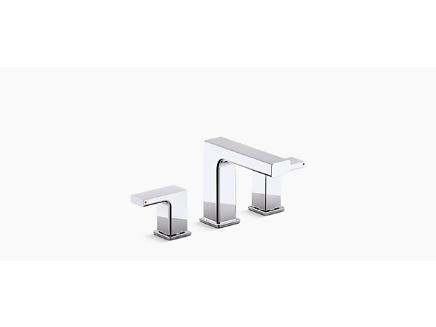 Strayt 2-handle 3-hole basin mixer