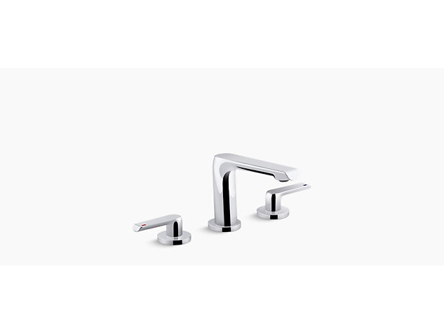 Avid 2-handle 3-hole basin mixer