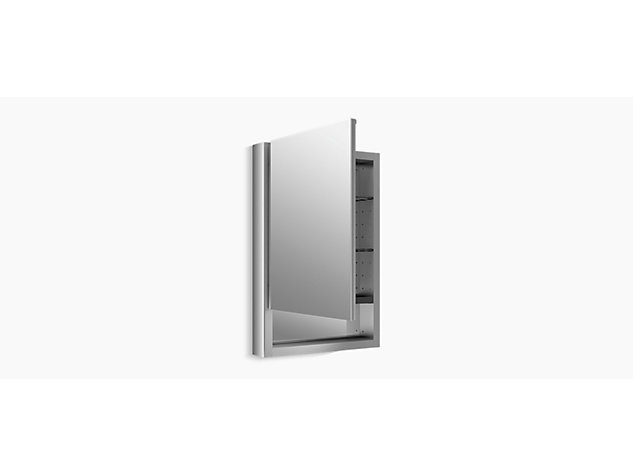 Verdera 510mm mirrored cabinet right hand hinged