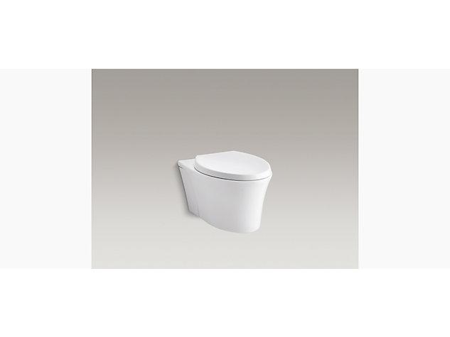 Veil rimless wall hung toilet pan