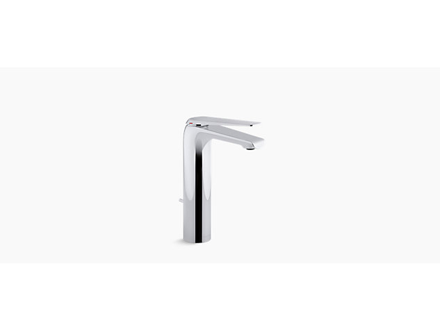 Avid tall single-lever monobloc basin mixer includes pop-up waste