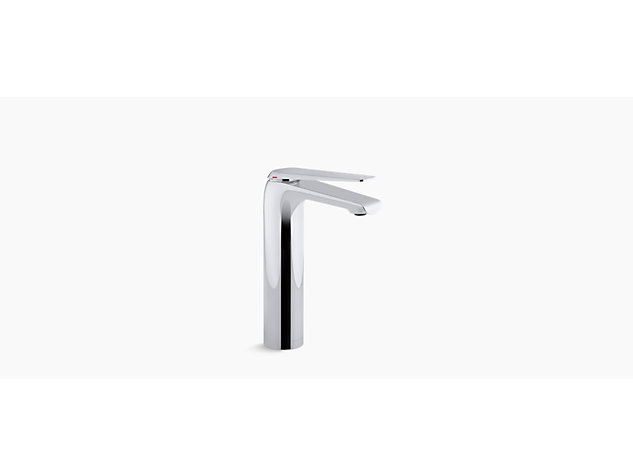 Avid tall single-lever monobloc basin mixer without waste