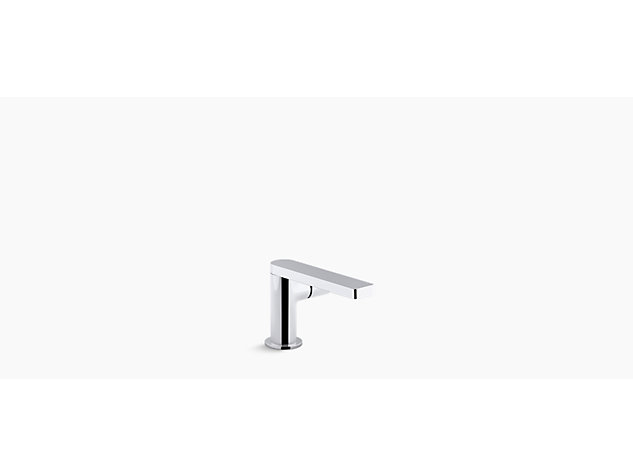Composed single-lever monobloc basin mixer side handle