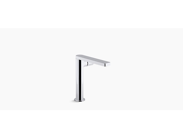 Composed tall single-lever monobloc basin mixer with clicker waste side handle