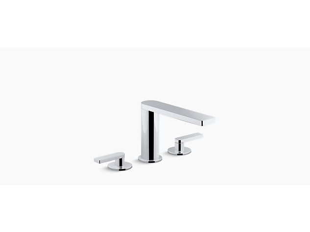 Composed 3-hole basin mixer lever handle