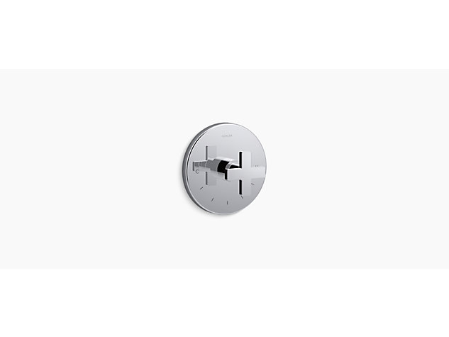 Composed® thermostatic valve trim, Cross handle