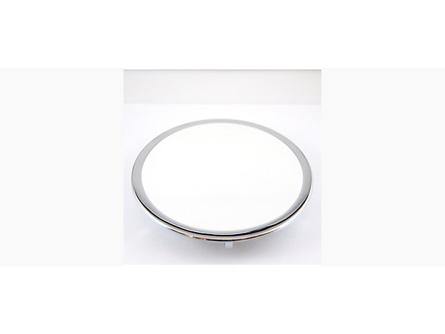Waste Cover White with Chrome Trim