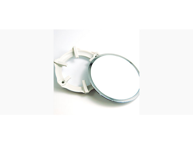Waste Cover and Washer White with Chrome Trim