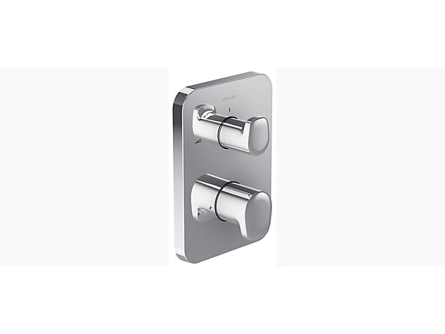 Aleo with Modulo thermostatic built-in shower valve with temperature and flow control