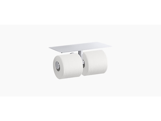 Components™ covered double toilet roll holder