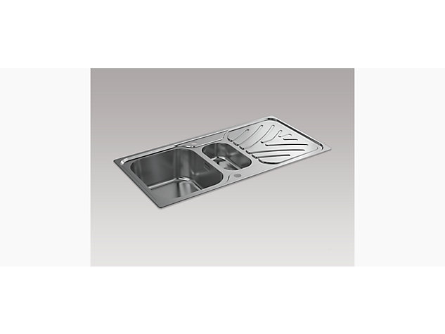 Ease 1000mm 1.5 Bowl Inset Sink with Draining Board