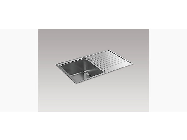 Hone 800mm Inset Sink with Draining Board