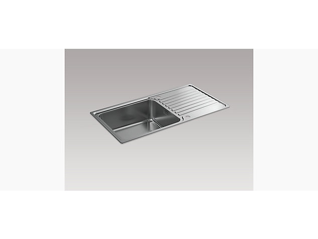 Hone 950mm Inset Sink with Draining Board