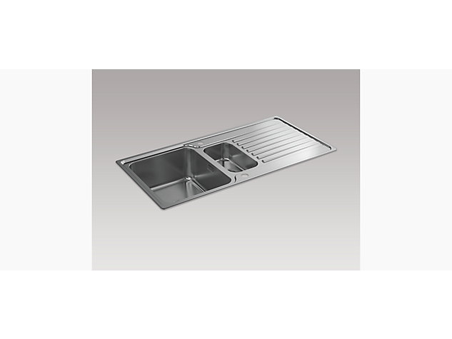 Hone 1000mm 1.5 Bowl Inset Sink with Draining Board