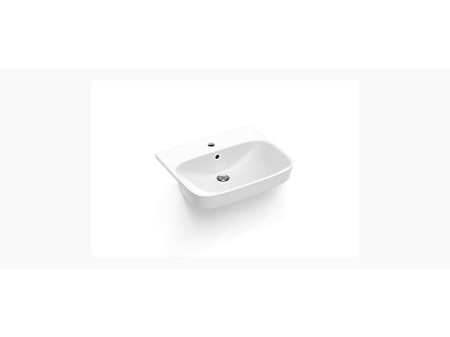 ModernLife™ Semi-recessed basin, 1 tap hole