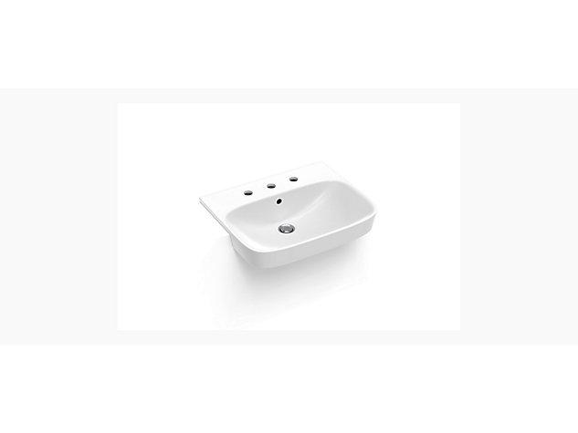ModernLife™ Semi-recessed basin, 3 tap holes