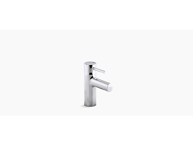Cuff Single-lever monobloc basin mixer includes pop-up waste