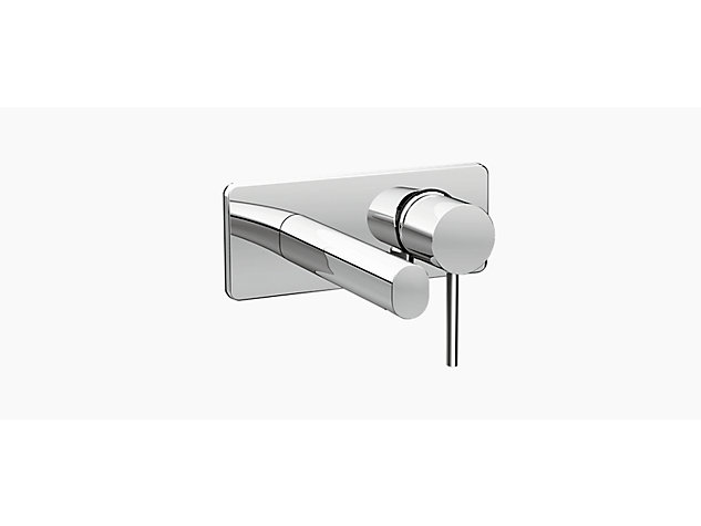 Cuff 2-hole wall mount basin mixer