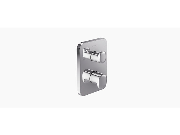 Aleo with Modulo thermostatic built-in single sequential shower valve with 2-way diverter