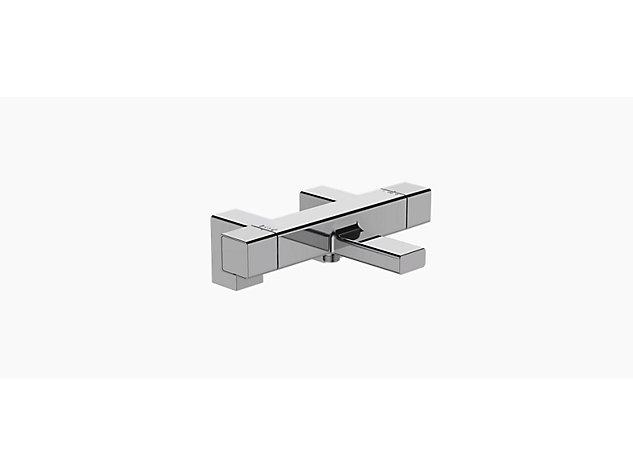 Strayt deck mount bath shower mixer