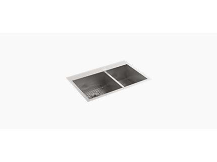 Sartorial™Herringbone on Carillon™ Wading Pool® rectangular Vessel basin