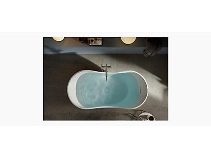 Abrazo Lithocast Freestanding Bath | KOHLER