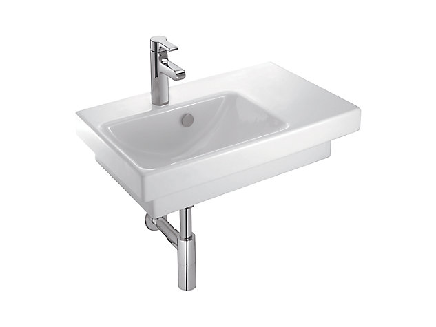 650mm Washbasin Vanity Top Left Hand