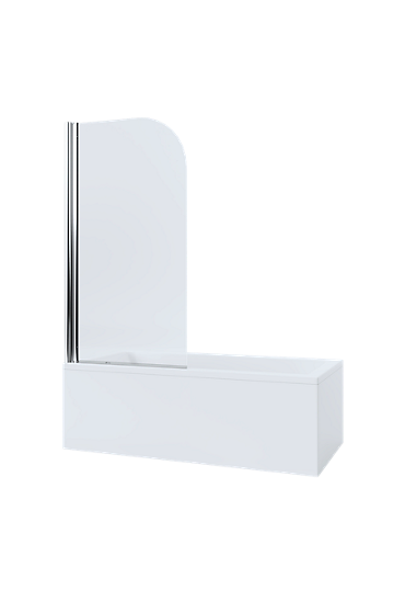 Mira Single Panel Curve Bathscreen
