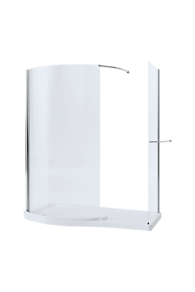 Walk-in with Side Panel - 1700 x 700mm