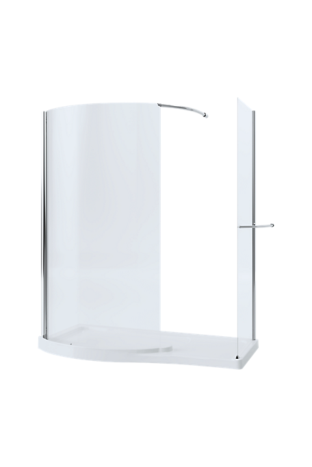 Mira Leap Walk-in with Side Panel - 1700 x 700mm
