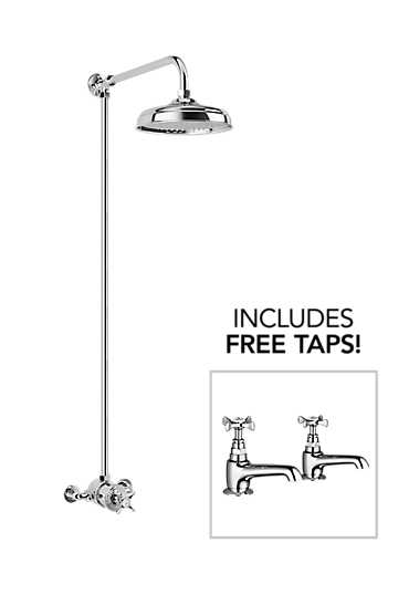 Mira Virtue ER + Free Virtue bath pillar taps